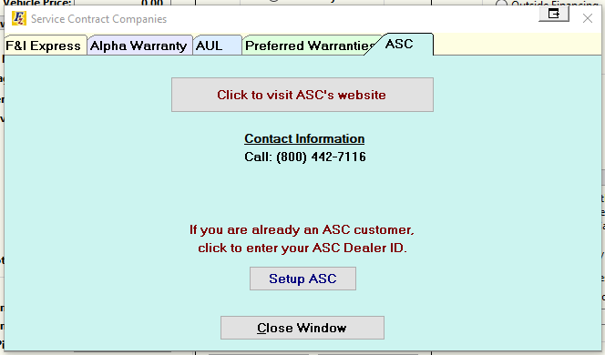 Sales S C Service Contract Providers Service Contracts Providers Asc